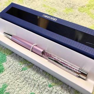 スワロフスキー(SWAROVSKI)のスワロフスキー 黒ボールペン 【ピンク】(ペン/マーカー)