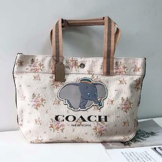 COACH - 正規品未使用 COACH   ディズニーの連名商品のズックのトートバッグ