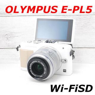 オリンパス(OLYMPUS)の❤️人気ホワイト❤️スマホ転送❤️OLYMPUS E-PL5(ミラーレス一眼)
