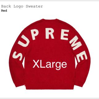 シュプリーム(Supreme)のSupreme Back Logo Sweater Red XL 赤(ニット/セーター)