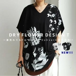 antiqua - 🌸アンティカ🌸タグ付き 花柄ドルマンTシャツ