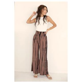 ALEXIA STAM - 新品★Shirred Waist Wide Leg Tie Dye Pants