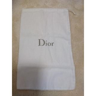 クリスチャンディオール(Christian Dior)のDior 保存袋 布 ホワイト 白 巾着 ブランド 靴 シューズ袋 収納袋(ショップ袋)