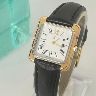 Saint Laurent - 綺麗 サンローラン 尾錠 ローマン 白 レディースウォッチ時計 ワンピ 極美品
