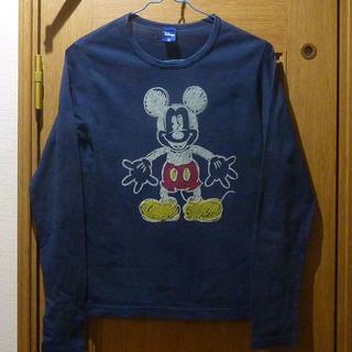 ディズニー(Disney)のディズニー ミッキーのTシャツ(長袖) サイズM <a375>(Tシャツ/カットソー(七分/長袖))