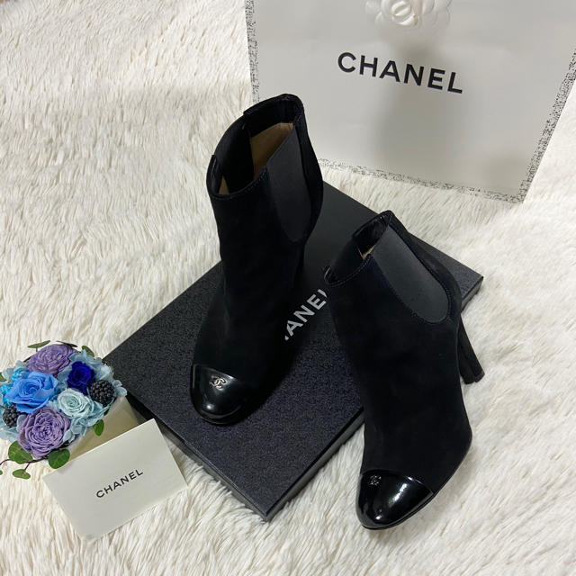 CHANEL(シャネル)のCHANEL シャネル ブーツ 36ハーフ レディースの靴/シューズ(ブーツ)の商品写真