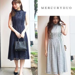 MERCURYDUO - 【新品タグ付き】MERCURYDUO サイドプリーツレースワンピース ミント