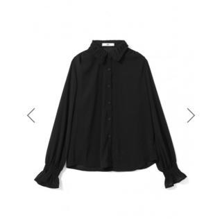 GRL - GRL ギャザーカラーキャンディースリーブシャツ 黒 人気 ブラウス