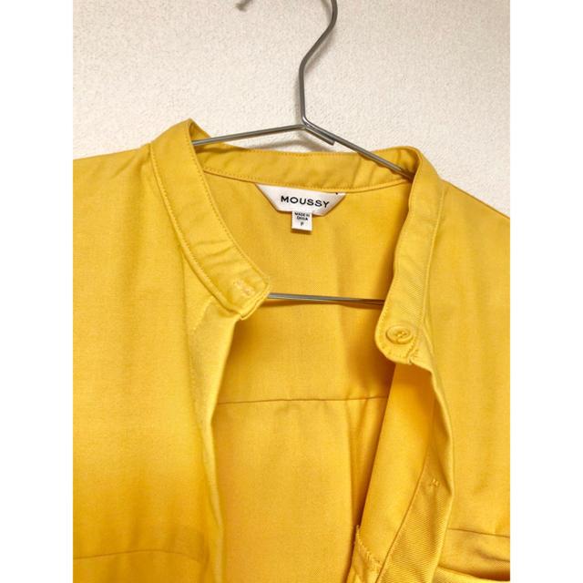 moussy(マウジー)のmoussy/ロングシャツワンピ/S(美品) レディースのワンピース(ロングワンピース/マキシワンピース)の商品写真