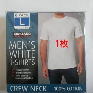 コストコ - コストコ カークランド メンズ ホワイトTシャツ Lサイズ 1枚