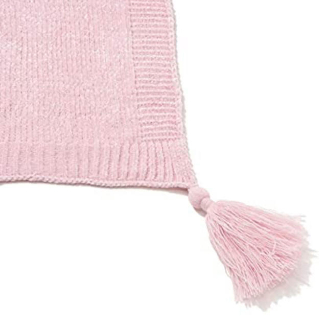 Francfranc(フランフラン)の本日限定値下げ⭐︎フランフラン 新品ブランケット シャーリー ピンク キッズ/ベビー/マタニティのこども用ファッション小物(おくるみ/ブランケット)の商品写真