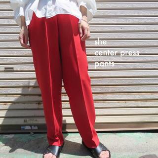 Santa Monica - 90s ビンテージ 古着 センタープレス スラックス パンツ