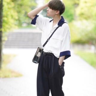SHOTA × INTER FACTORY バイカラールーズオープンカラーシャツ
