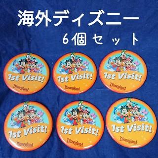 Disney - 海外ディズニー カルフォルニア 缶バッジ 6個セット 限定品 非売品