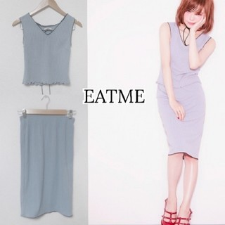 EATME - 【イートミー】セットアップ リブ カットソー + リブ タイトスカート
