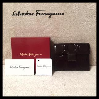 Salvatore Ferragamo - 【美品】 フェラガモ 折り財布 ブラック  ガンチーニ
