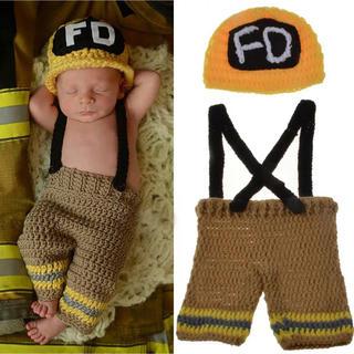ニューボーンフォト 衣装 消防士