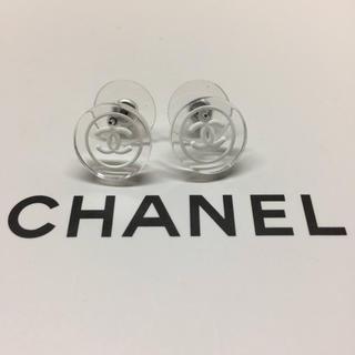 CHANEL - クリアピアスホワイト ノベルティ シャネル
