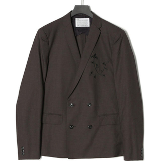 kolor - 【新品未使用】kolor 刺繍 ダブルジャケット size3 ブラウン