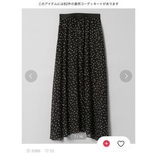 JEANASIS - シフォンマキシスカート