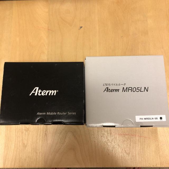 NEC(エヌイーシー)のNEC Aterm MR05LN 予備バッテリー1とクレードルセット スマホ/家電/カメラのPC/タブレット(PC周辺機器)の商品写真