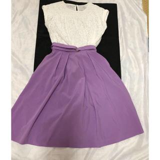 anySiS - 美品!any SIS  レーストップス&薄紫のスカートのセット