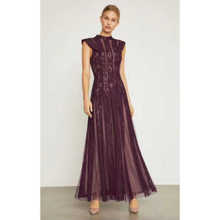 ビーシービージーマックスアズリア(BCBGMAXAZRIA)の❤️BCBG 2020新作 新品 紫ドレス 2 色 綺麗(ロングドレス)