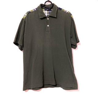 コムデギャルソン(COMME des GARCONS)のCOMME des GARCONS HOMME ポロシャツ グリーン(ポロシャツ)