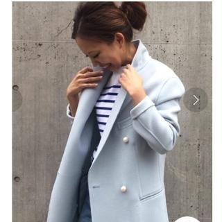 マディソンブルー(MADISONBLUE)の値下げ☆未使用☆ MADISON BLUE パールボタンコート(チェスターコート)