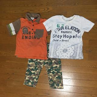 エニィファム(anyFAM)の男の子 トップス&ハーフパンツ セット 110(Tシャツ/カットソー)