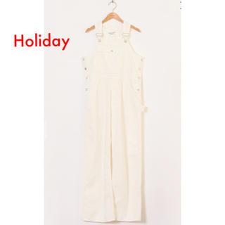 ホリデイ(holiday)のholiday 白 サロペット オーバーオール (サロペット/オーバーオール)