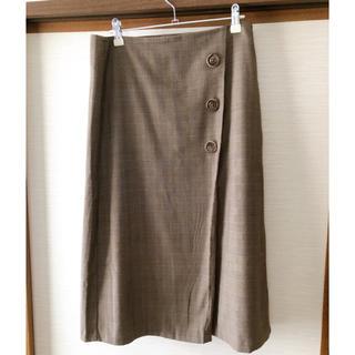 GU - 【送料無料】GU ひざ丈スカート ベージュチェック XL