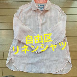 ジユウク(自由区)の自由区 ピンクのリネンシャツ(シャツ/ブラウス(長袖/七分))