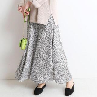 IENA SLOBE - フラワープリントパネルフレアースカート◆40サイズ