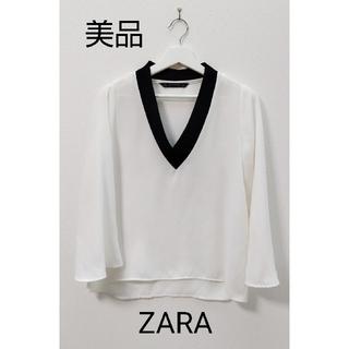 ZARA - ZARA  白  カットソー
