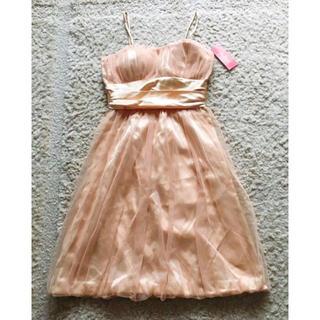 ♡Juliet♡パーティードレス ワンピース 新品 ベージュゴールド(ミディアムドレス)