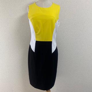Calvin Klein - Calvin Klein ノースリーブワンピース イエロー  ドレス