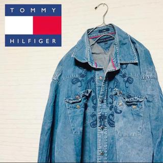 トミーヒルフィガー(TOMMY HILFIGER)の大人気★トミーヒルフィガー★Gジャン★ダブルポケット★刺繍★ジーンズ★紺色(Gジャン/デニムジャケット)