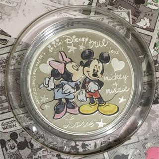 ディズニー(Disney)のクレイジーインラブ ミッキーとミニー 1オンス銀貨プルーフ 2015年ニウエ発行(貨幣)