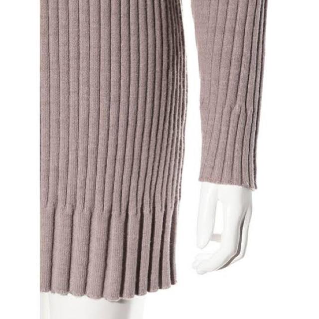 snidel(スナイデル)のsnidel ワイドリブミニニットワンピース ピンク レディースのトップス(ニット/セーター)の商品写真