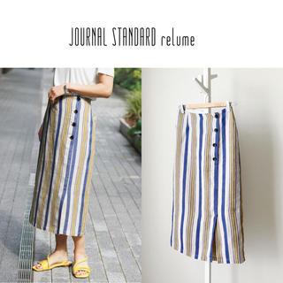 JOURNAL STANDARD - 19SS JS relume フランダースリネンストライプスカート