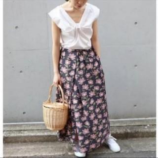 IENA - IENA♡プリントスリットスカート