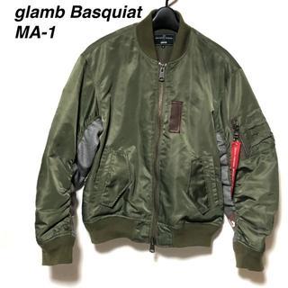グラム(glamb)のグラム×バスキア MA-1 GB15ANV/BQ02/GLAMB Basquia(フライトジャケット)