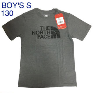 THE NORTH FACE - 【新品】ザノースフェイス♡ロゴ半袖TシャツボーイズS120130グレー