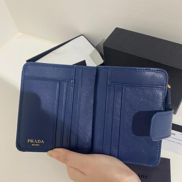 PRADA(プラダ)のPRADA 二つ折りザイフ レディースのファッション小物(財布)の商品写真
