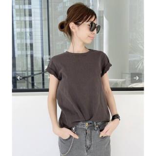アパルトモンドゥーズィエムクラス(L'Appartement DEUXIEME CLASSE)のアパルトモン  REMI RELIEF Compact T-sh ブラック(Tシャツ(半袖/袖なし))