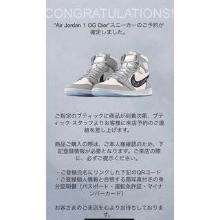 NIKE - Dior Nike Air Jordan 1 High OG 27cm