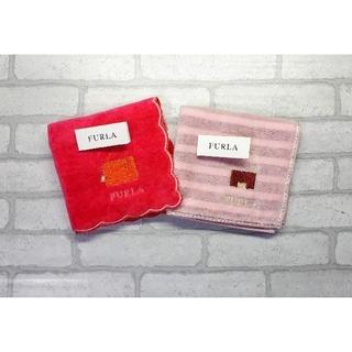 Furla - 送料無料■FURLA/フルラ■かばん柄 ミニタオルハンカチ■2枚セット③
