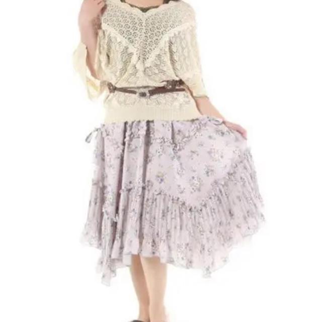 axes femme(アクシーズファム)の花柄 ボリュームスカート レディースのスカート(ひざ丈スカート)の商品写真