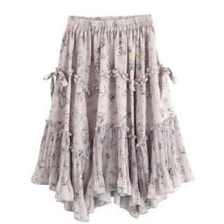 axes femme - 花柄 ボリュームスカート